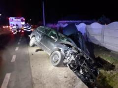 Accident rutier produs de un sofer baut, pe E70 la Peretu