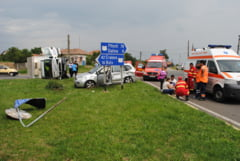 Accident spectaculos in intersectie la Ganeasa