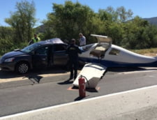 Accident straniu in California: Un avion a zdrobit o masina, pe autostrada