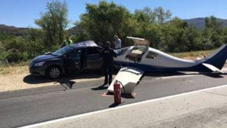 Accident straniu in California: Un avion a zdrobit o masina, pe autostrada