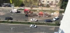 Accident violent in centrul Timisoarei. Mai multe masini implicate