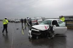 Accident violent la intrare in Craiova
