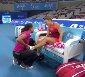 Accidentare stranie pentru Simona Halep: De ce a fortat in China?