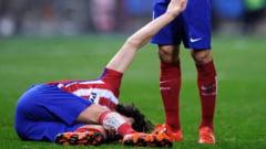 Accidentare teribila in Primera Division. Un star de la Atletico Madrid va sta 4 luni pe tusa (Video)