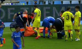 Accidentare teribila in Primera Division, la meciul Getafe - Villarreal (Video)