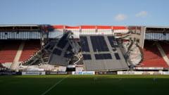 Acoperisul stadionului unei echipe importante din Olanda s-a prabusit