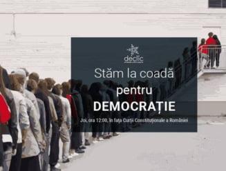 Actiune fara precedent la CCR: Stam la coada pentru Democratie. Noi, cetatenii, nu suntem pregatiti sa ne dam batuti UPDATE