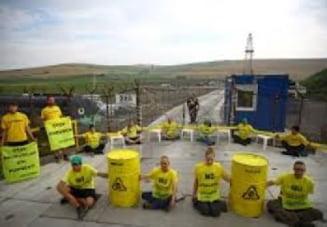 Activisti Greenpeace din sapte tari protesteaza la Pungesti