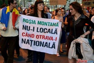 Activistii Rosia Montana ies din nou in strada: Proteste masive in zeci de orase din tara si strainatate