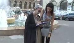 Actorii au iesit in strada sa stranga semnaturi ca penalii sa nu mai ocupe functii publice: Sa construim o Romanie noua!