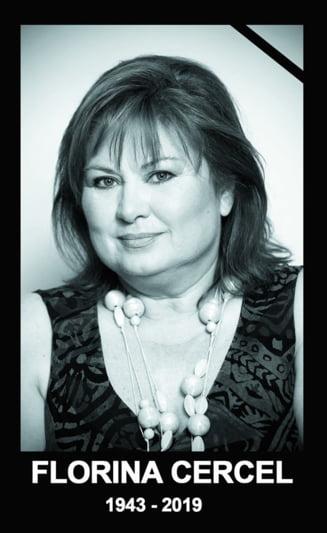 Actrita Florina Cercel a fost inmormantata cu onoruri militare