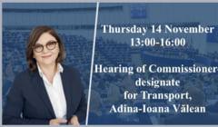 Adina Valean a trecut de Comisia de specialitate din Parlamentul European