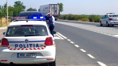 Adolescent de 15 ani din Sibiu, prins la volan. Mașina avea număr de înmatriculare fals