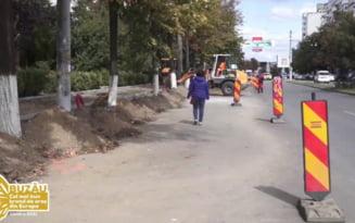 Aglomeratie in trafic, dupa deschiderea santierului de pe Bulevardul Unirii VIDEO