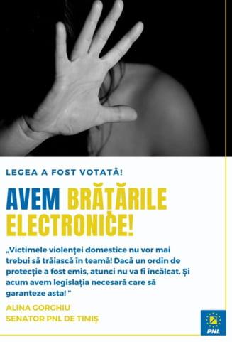 Agresorii victimelor violentei domestice, monitorizati cu bratara electronica. Proiectul de lege merge spre promulgare la Presedinte