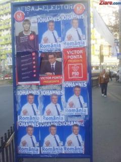 Ai vazut mai multe afise ale aceluiasi candidat pe un singur panou electoral? Reclama-l, pentru ca incalca legea