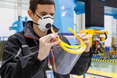 Airbus produce viziere pentru spitale, prin imprimare 3D, in efortul de combatere a Covid-19