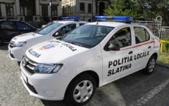 Ajunctul Politiei Locale Slatina a accidentat doua persoane pe trecerea de pietoni