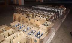 Alcool din Bulgaria, confiscat in Vama Giurgiu