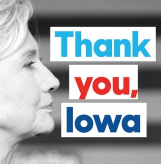 Alegeri in SUA: S-a dat cu banul si Hillary Clinton a castigat alegerile in Iowa (Video)