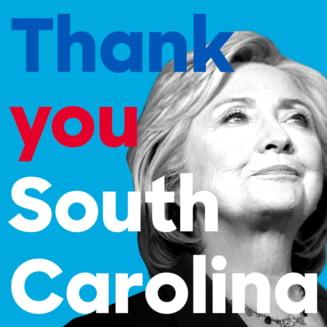 Alegeri prezidentiale in SUA: Hillary Clinton a castigat in Carolina de Sud (Video)