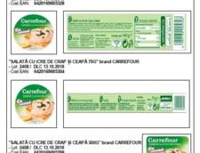 Alerta alimentara privind salata de icre de la Carrefour