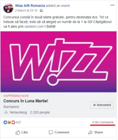 Alerta pe Facebook: Frauda in numele Wizz Air cu bilete gratuite de avion