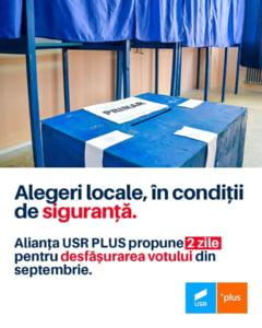 Alianta USR PLUS propune in Parlament ca alegerile locale din toamna sa se desfasoare pe parcursul a doua zile
