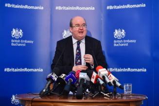 Ambasadorul Marii Britanii la Bucuresti: Reforma trebuie sa ajute lupta impotriva coruptiei si stabilirea statului de drept, nu sa le impiedice