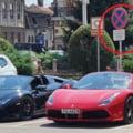 Amenda simbolică primită de doi șoferi cu Ferrari și Lamborghini care au sfidat autoritățile, parcând ilegal chiar în fața sediului Poliției