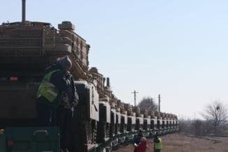 Americanii suplimenteaza numarul tancurilor aflate in baza Mihail Kogalniceanu (Foto&Video)