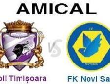 Amical: Poli Timisoara - FK Novi Sad 3-0