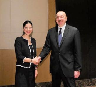 Ana Birchall s-a intalnit cu presedintele Ilham Aliyev, controversatul lider al Azerbaidjanului