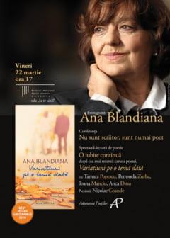 Ana Blandiana - conferinta despre poezie si spectacol-lectura, la Craiova