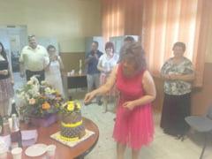 Anca Belu, primita cu tort si flori in noul mandat!