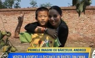 Andreea Marin - primele imagini cu baietelul adoptat din China