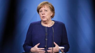 """Angela Merkel, in favoarea unor restrictii mai dure in Germania. """"Avem nevoie de o rata de incidenta stabila la sub 100"""""""