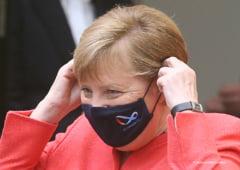 Angela Merkel, prima aparitie publica purtand masca, dupa valul de critici