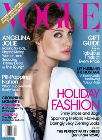 Angelina Jolie isi arata silueta perfecta in Vogue (Galerie foto)