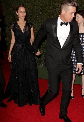 Angelina Jolie si Brad Pitt, din nou impreuna, dupa trei luni in care nu s-au vazut deloc