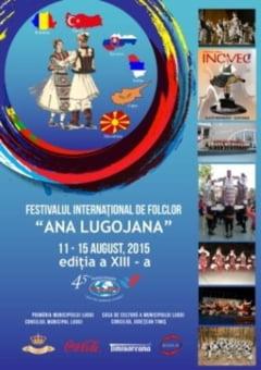 """Ansambluri folclorice din sase tari la cea de-a XIII-a editie a Festivalului International de Folclor """"Ana Lugojana"""", de la Lugoj"""