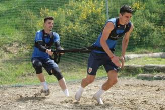 Antrenament inedit pentru nationala de tineret a Romaniei inainte de Campionatul European