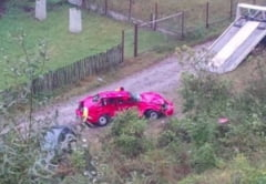 Antrenorul CSU Brasov a provocat un accident grav pe DN1 si a cazut cu masina in prapastie
