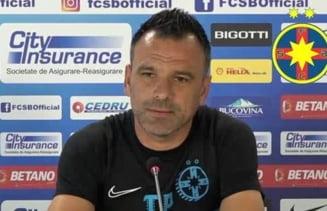 """Antrenorul FCSB, nemultumit dupa victoria cu Voluntari: """"Meciul se termina cand fluiera arbitrul"""""""
