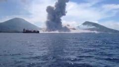 Aproape 1.500 de persoane au fost evacuate din cauza eruperii unui vulcan de pe o insula tropicala