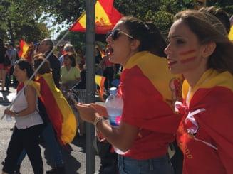 Aproape un milion de oameni au cerut in strada unitatea Spaniei. Mario Vargas Llosa: Cea mai rea e pasiunea nationalista (Video)