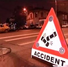 Arad: Accident in lant pe DN 79 Arad - Oradea