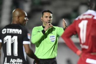Arbitrul Sebastian Coltescu, suspendat pana la finalul sezonului dupa meciul PSG - Istanbul BB. Ce vina i-au gasit oficialii europeni