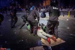 Arestari dupa violentele de la protestul de miercuri