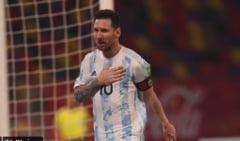 Argentina lui Messi, pas gresit in cursa pentru Mondiale, la primul meci dupa disparitia lui Maradona. Statuie pentru legendarul fotbalist VIDEO